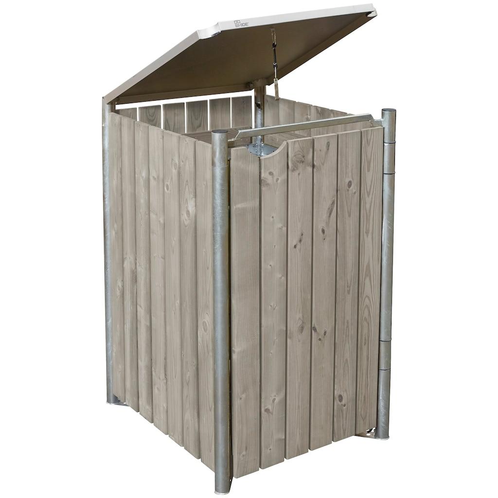 HIDE Mülltonnenbox für 1 x 120 l, grau/natur