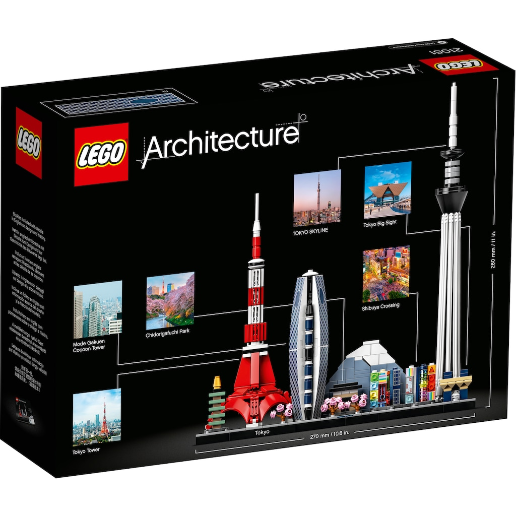 LEGO® Konstruktionsspielsteine »Tokio (21051), LEGO® Achritecture«, (547 St.), Made in Europe