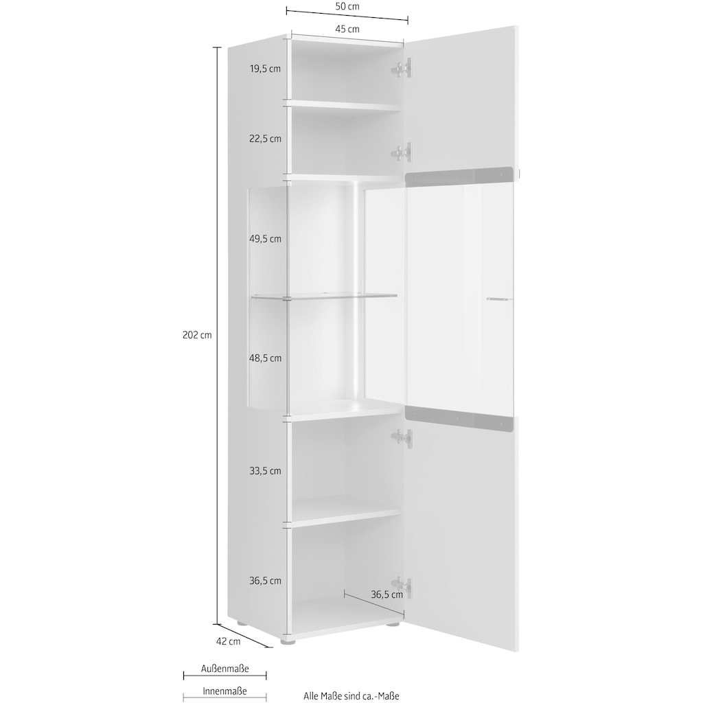 Villeroy & Boch Vitrine »AMARA CARRÉ«, Höhe 202 cm