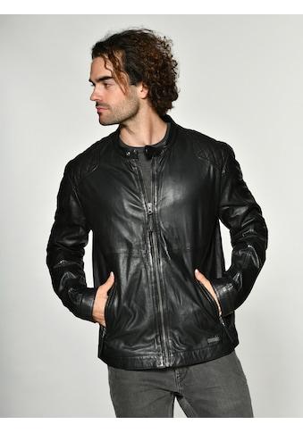 MUSTANG Lederjacke mit Reißverschluss und Stehkragen »Max« kaufen