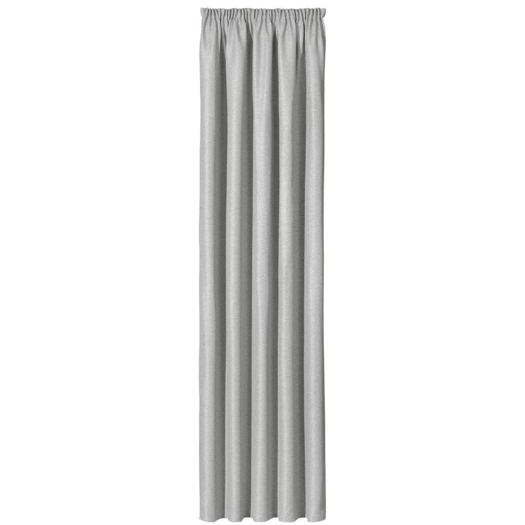 Gerster Vorhang »Hardy«, HxB: 245x140, Dekoschal mit Kräuselband, verdunkelnd