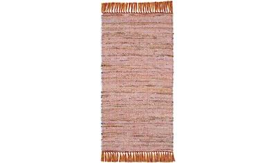 Andiamo Teppich »Frida«, rechteckig, 8 mm Höhe, reine Baumwolle, handgewebt, mit Fransen, Wohnzimmer kaufen