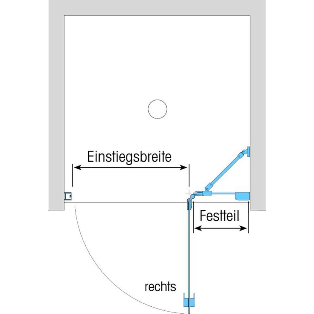 Dusbad Drehtür »Vital 1«, Anschlag links, 112,5cm