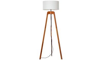Brilliant Leuchten Stehlampe, E27, Nola Standleuchte, dreibeinig holz dunkel/weiß kaufen