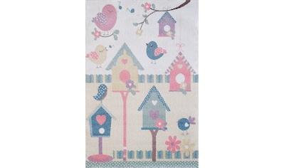 Sanat Kinderteppich »Luna Kids 4601«, rechteckig, 12 mm Höhe, Vogelhaus in pastell Farben kaufen