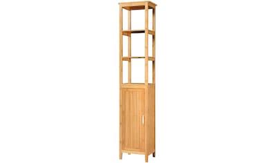 WELLTIME Hochschrank »Bambus New«, Badschrank 40 cm breit kaufen