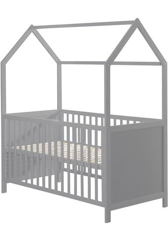 roba® Babybett »Hausbett 70/140, taupe«, FSC®-Holz aus gewissenhaft bewirtschafteten... kaufen