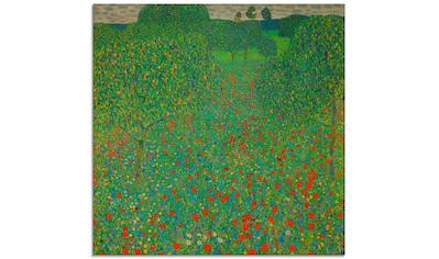 Artland Glasbild »Feld mit Mohn«, Blumen, (1 St.) kaufen