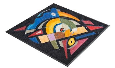 Teppich, »balanced rhythm I«, wash+dry by Kleen - Tex, quadratisch, Höhe 7 mm, gedruckt kaufen