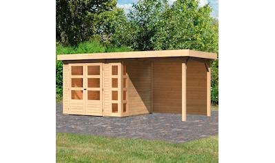 KONIFERA Set: Gartenhaus »Nordsee 3«, BxT: 491x238 cm, mit Anbaudach kaufen
