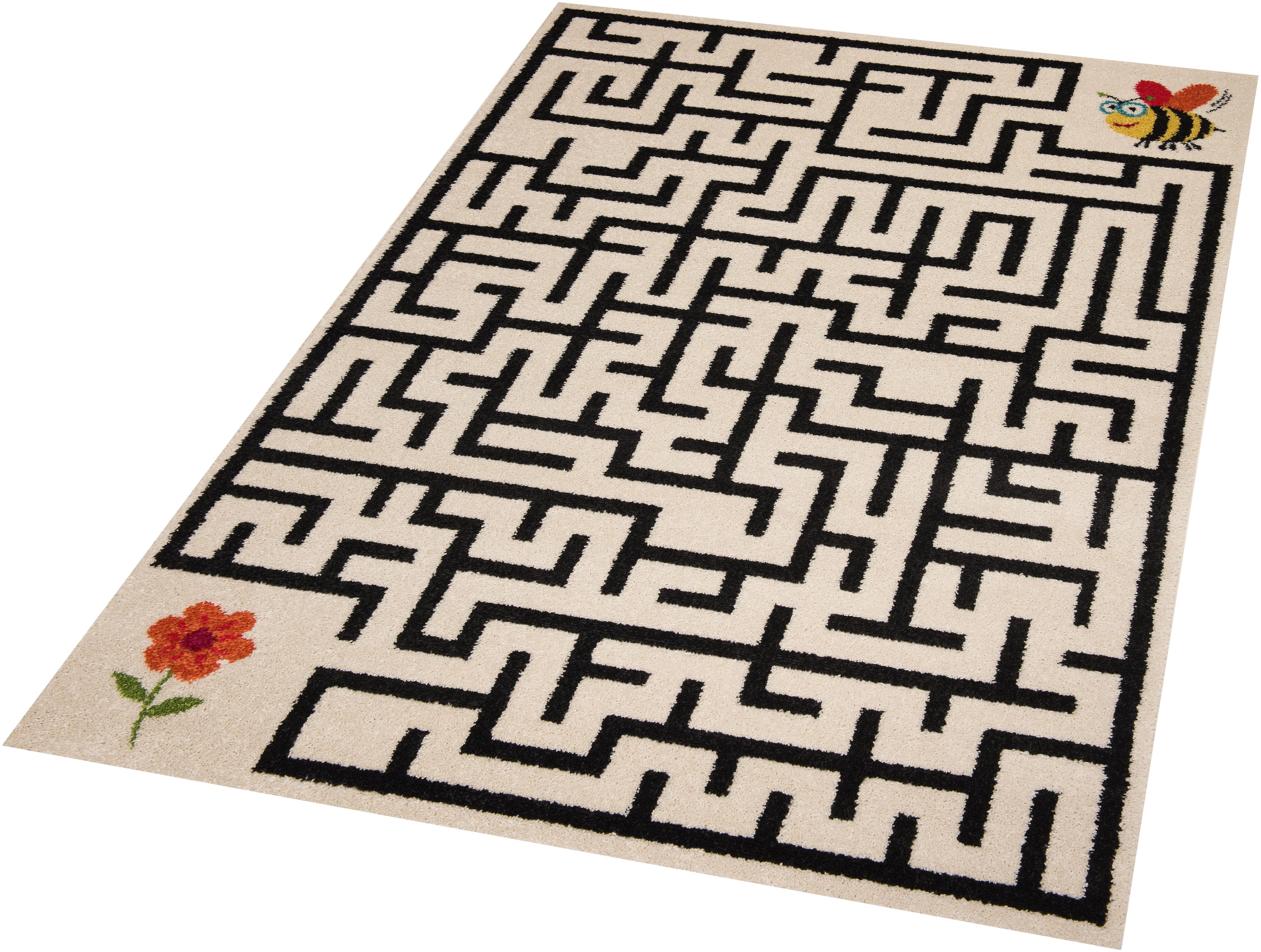Kinderteppich Labyrinth Zala Living rechteckig Höhe 9 mm maschinell gewebt
