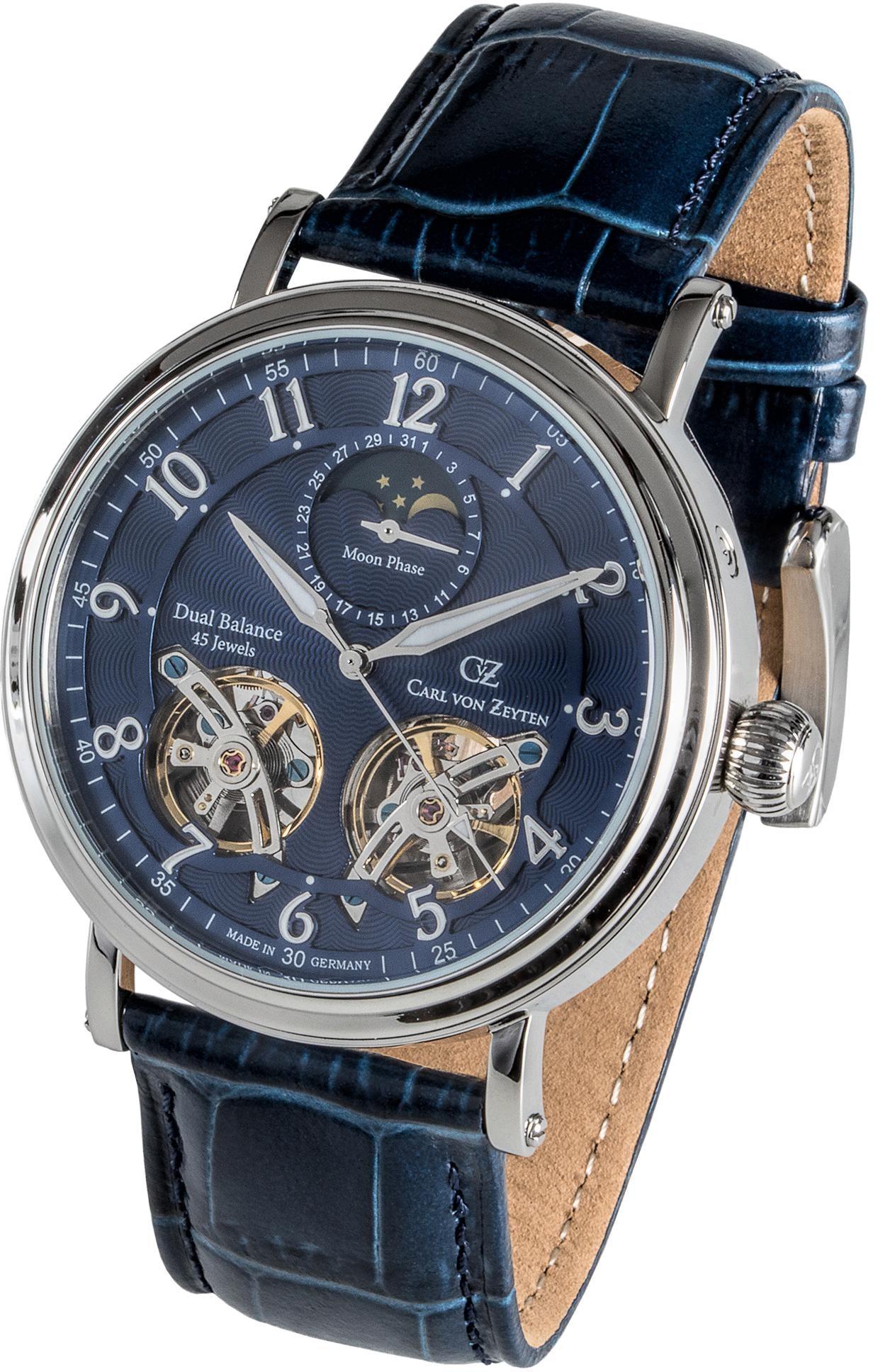 Carl von Zeyten Automatikuhr Murg CVZ0054BL | Uhren > Automatikuhren | Blau | Carl Von Zeyten