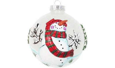 Krebs Glas Lauscha Weihnachtsbaumkugel »CBK30411«, (1 St.), mit 3D-Schneemann kaufen
