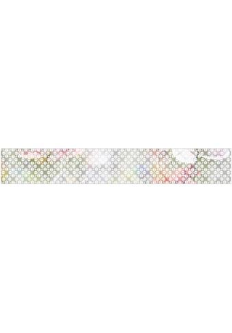 MySpotti Fensterfolie »Grafik Blumenmuster white«, 200 x 30 cm, statisch haftend kaufen