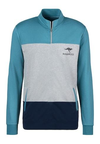 KangaROOS Sweatshirt, mit Stehkragen mit kurzen Reißverschluss kaufen