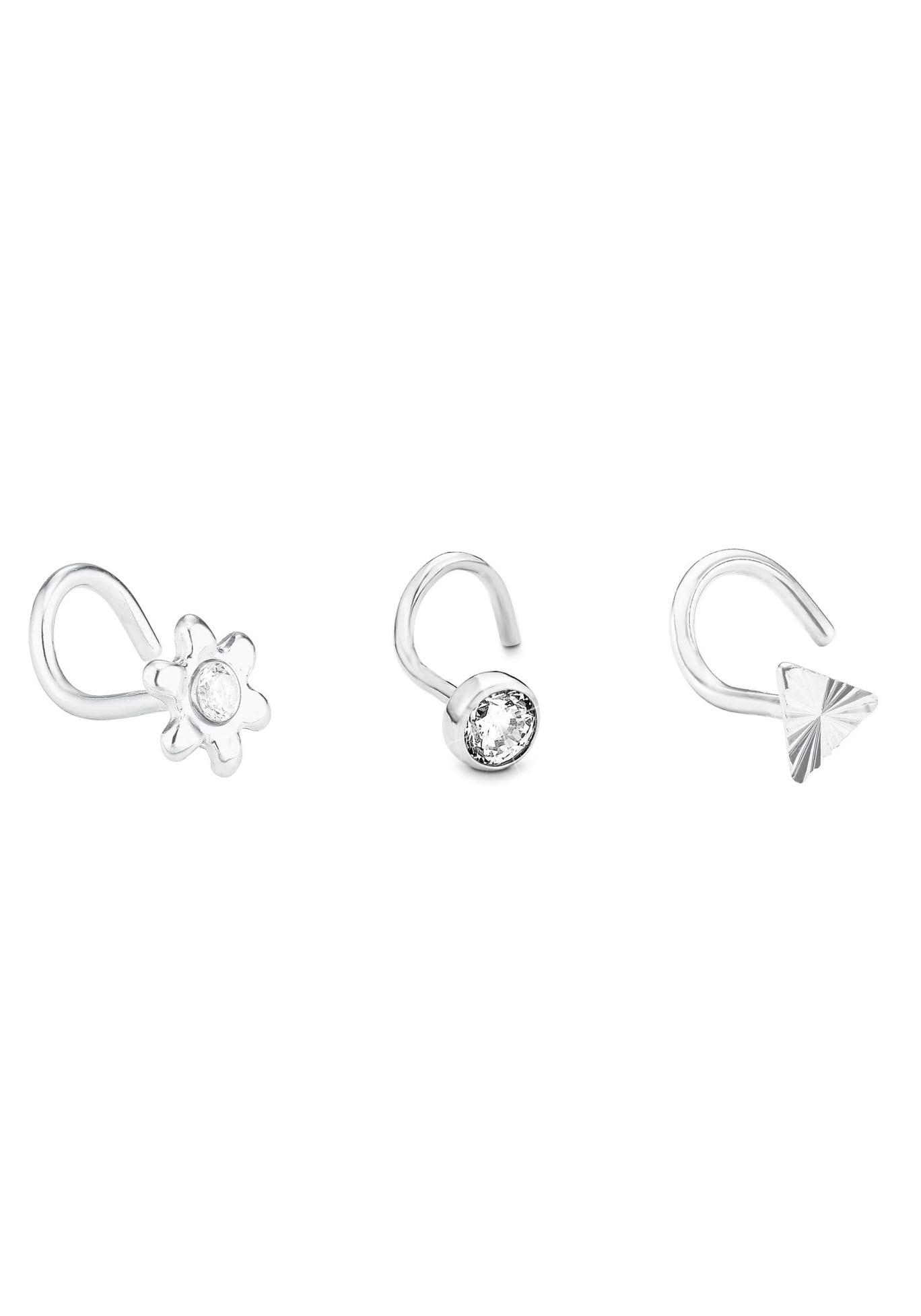 Amor Piercing-Set Blume| Dreieck| 2027097 (Set| 3 tlg.) | Schmuck > Piercings | Amor