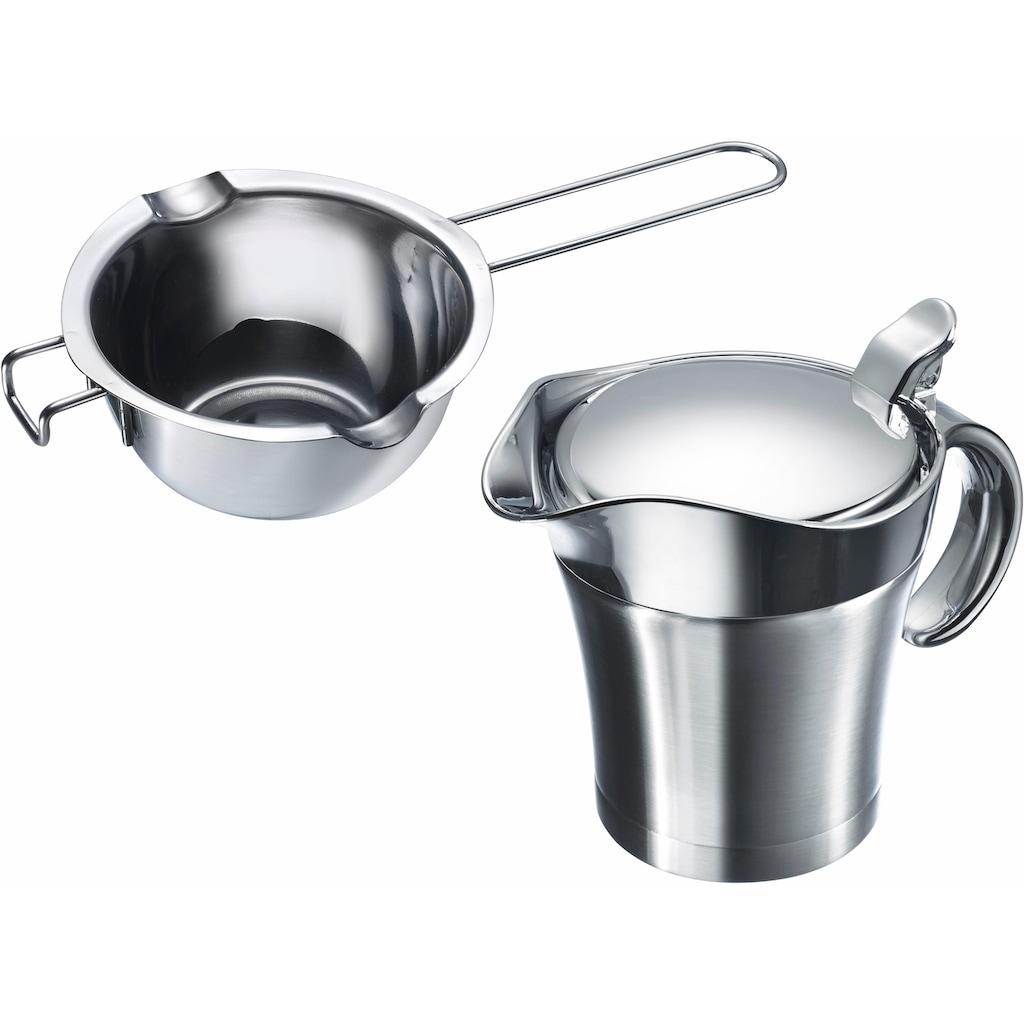 WESTMARK Küchenhelfer-Set, Thermo-Sauciere, Butter-/Schokoladenpfännchen