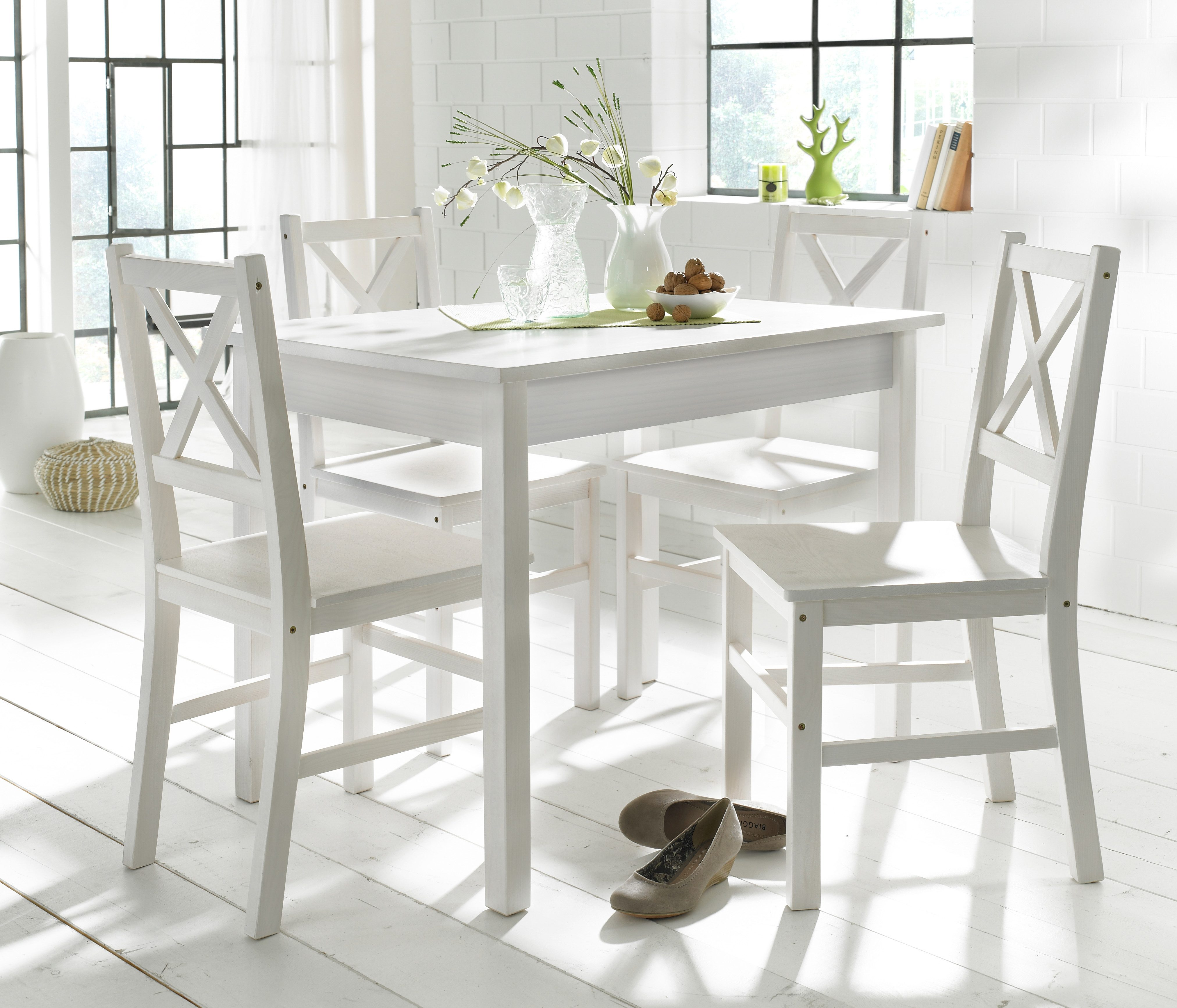 Home affaire Essgruppe (5-tlg) mit kleinem oder großem Tisch