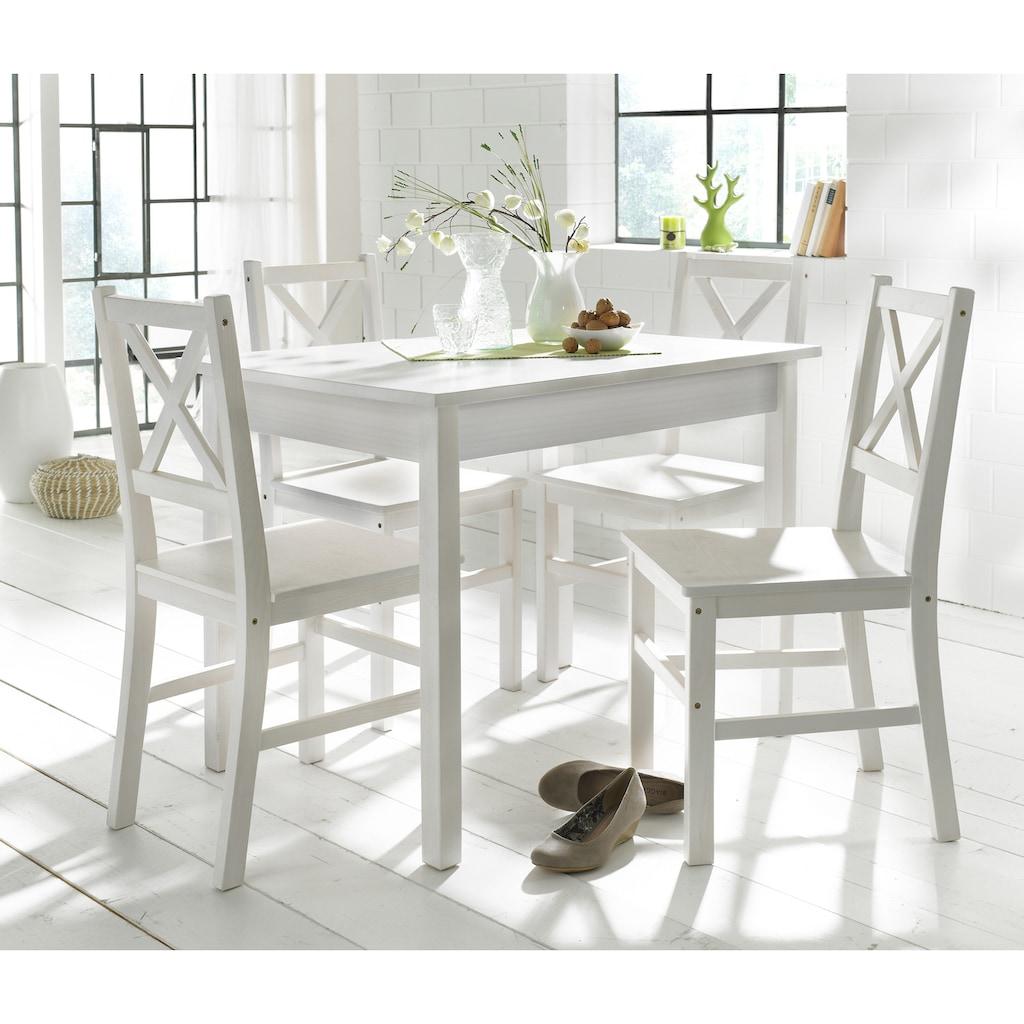 Home affaire Essgruppe, (Set, 5 tlg.), mit kleinem oder großem Tisch