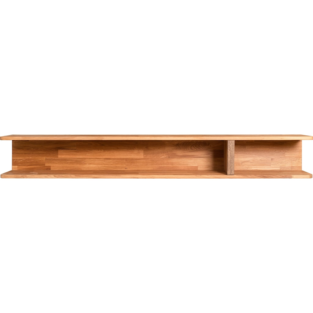 andas Wandregal »Logan«, aus schönem massiven Eichenholz, für eine Wandmontage geeignet, Breite 180 cm