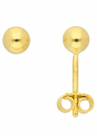 Adelia´s Paar Ohrstecker »333 Gold Ohrringe / Ohrstecker Ø 4 mm«, Goldschmuck für Damen kaufen