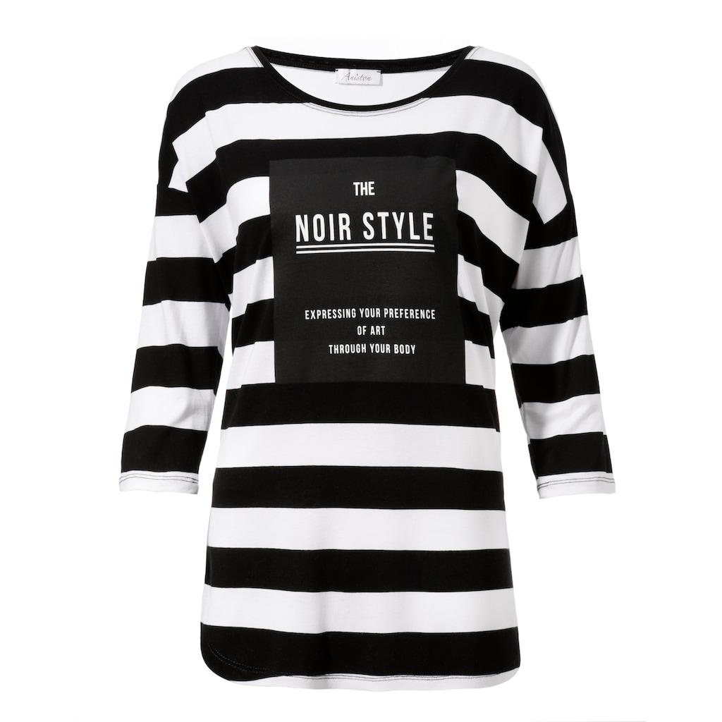 Aniston CASUAL 3/4-Arm-Shirt, Mit Statement Schriftzug