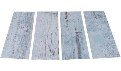 MYSPOTTI Duscheinlage »Klebefliese stepon Wood Light Blue«, 4er - Set, antirutsch, BxH: 30 x 10 cm kaufen