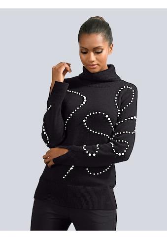 Alba Moda Pullover mit Schmuckperlen Verzierung kaufen