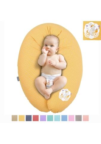 SEI Design Stillkissen »EPS Perlen Hase auf Fahrrad orange«, mit hochwertiger Stickerei kaufen