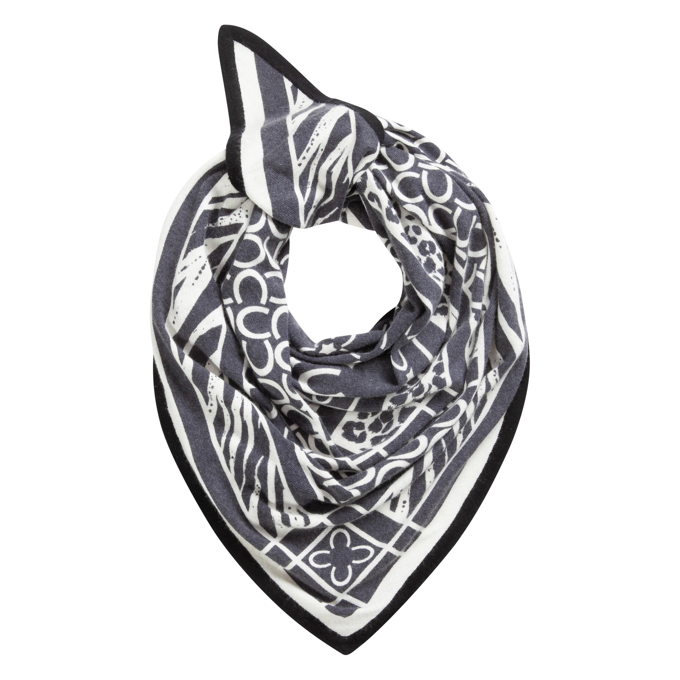 Codello Dreieckstuch, mit wärmender Wolle schwarz Damen Dreieckstuch