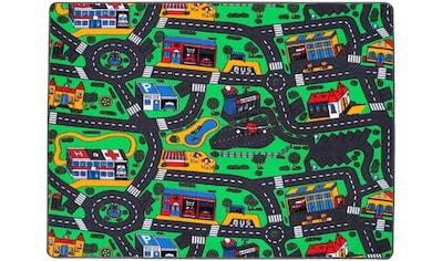 Primaflor-Ideen in Textil Kinderteppich »CITY«, rechteckig, 5 mm Höhe, Straßen-Spielteppich, Straßenbreite ca. 9 cm kaufen