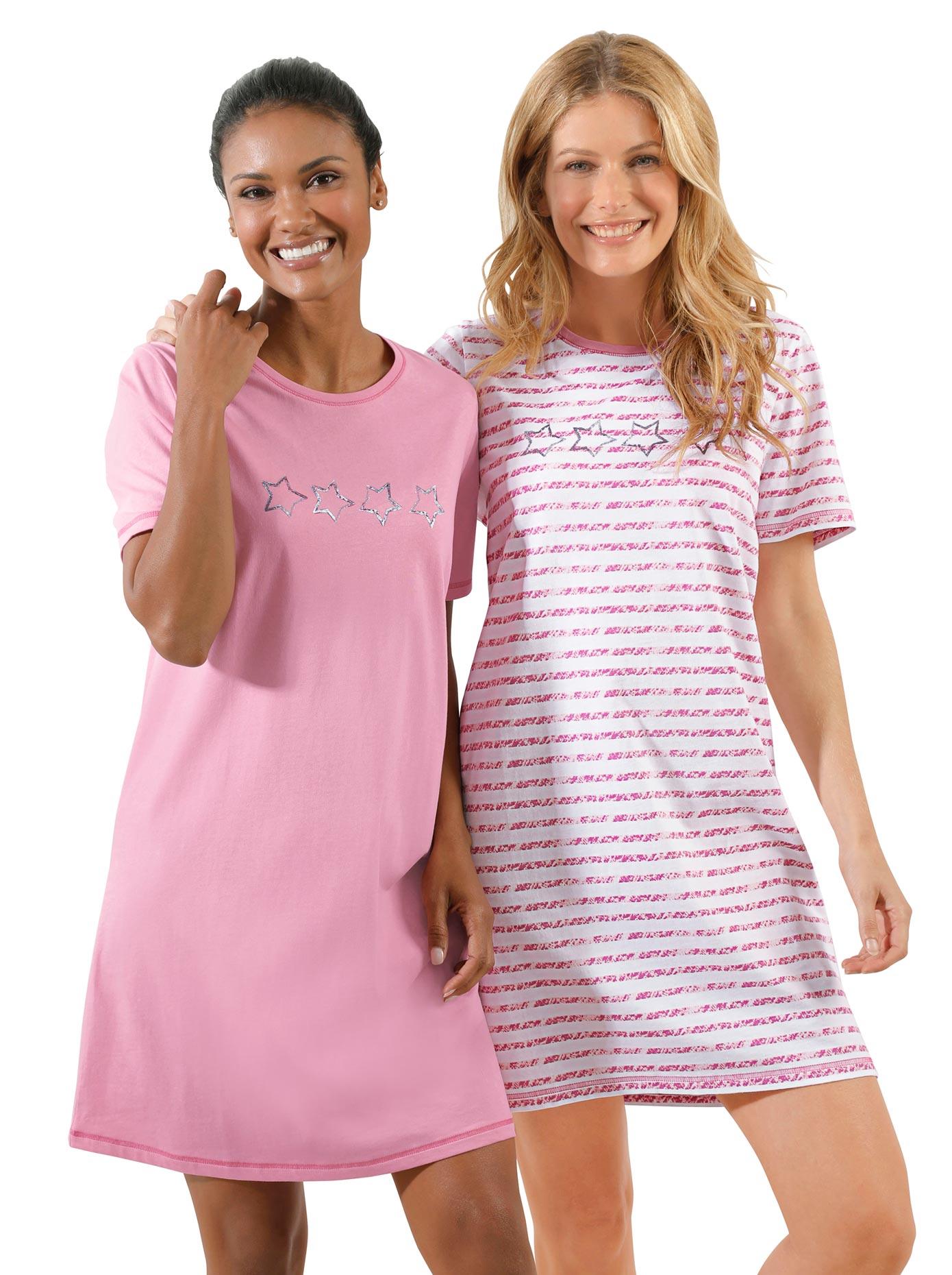 wäschepur Sleepshirts (2 Stck.)   Bekleidung > Nachtwäsche > Sleepshirts   Wäschepur