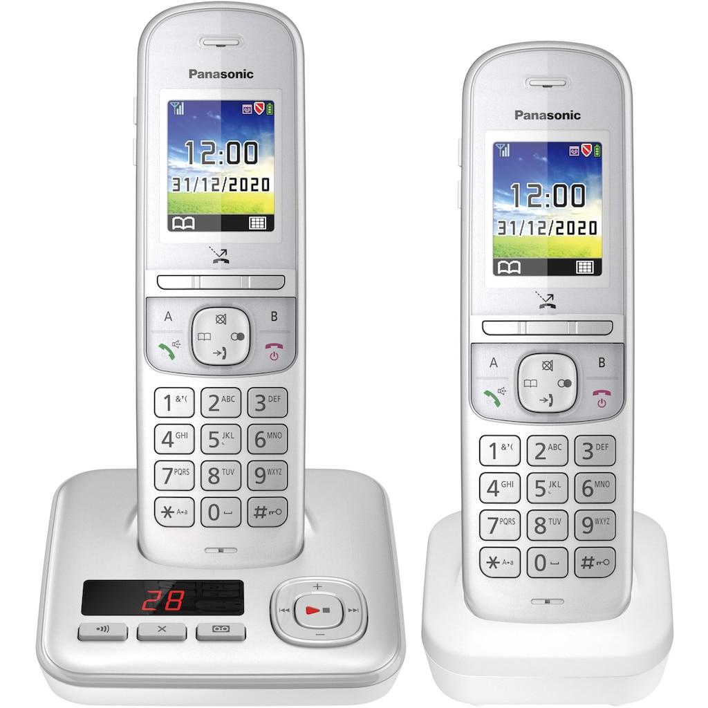 Panasonic »KX-TGH722 Duo« Schnurloses DECT-Telefon (Mobilteile: 2)
