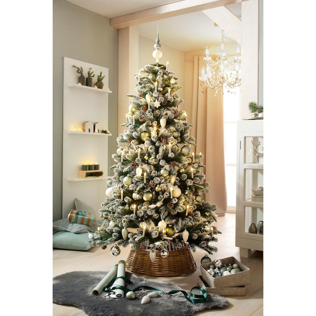 Künstlicher Weihnachtsbaum »Snow on Green«, mit leicht beschneiten Ästen und Tannenzapfen