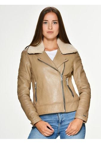 Maze Lederjacke mit weit gefächertem Hemdkragen »Mercury« kaufen