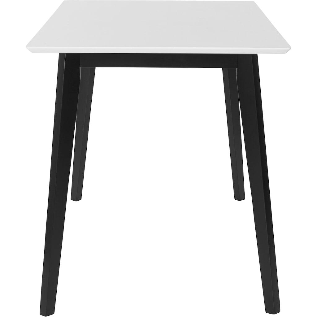 INOSIGN Esstisch »Cody«, mit Beinen aus massiver Kiefer, eckige MDF-Tischplatte, in 2 verschiedenen Farbvarianten