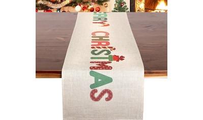 Tischläufer, »MERRY CHRISTMAS«, Delindo Lifestyle (1 - tlg.) kaufen