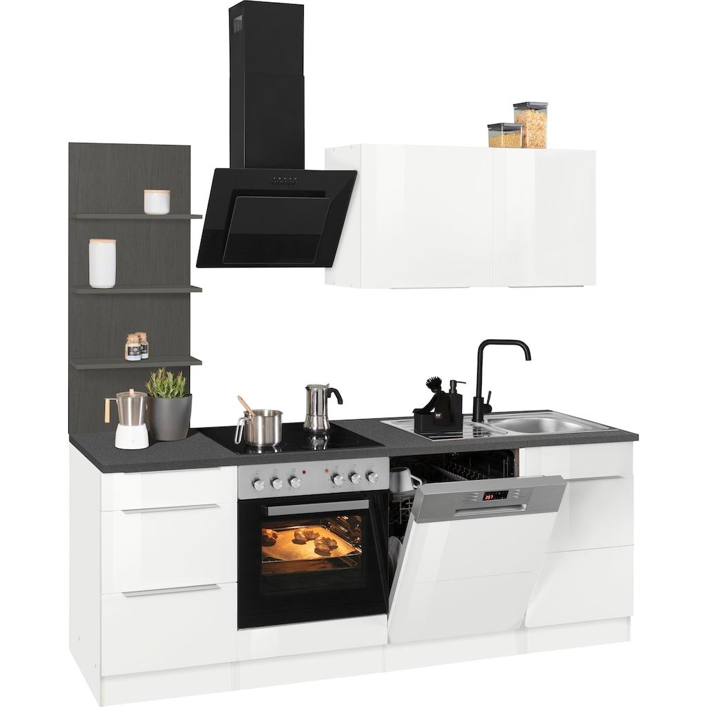 HELD MÖBEL Küchenzeile »Brindisi«, Breite 220 cm