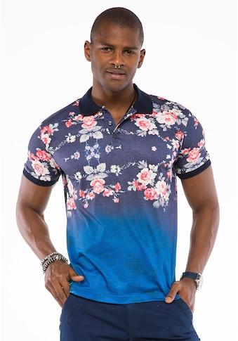 Cipo & Baxx Poloshirt, mit schickem Blumenmuster kaufen