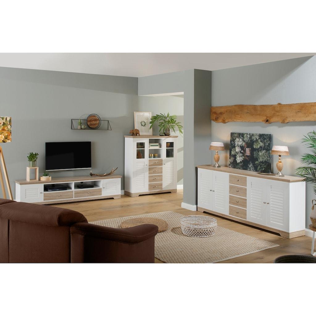Home affaire Highboard »Ramon«, mit schönen Metallgriffen und Jalousine Türen
