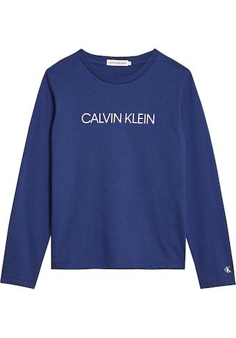 Calvin Klein Jeans Langarmshirt »INSTITUTIONAL LS T - SHIRT« kaufen