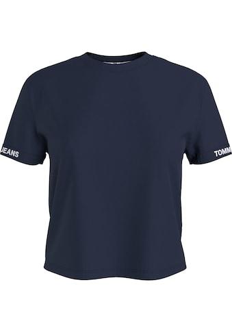 Tommy Jeans Rundhalsshirt »TJW CROP BRANDED TEE«, mit Tommy Jeans Logo-Schrfitzug am... kaufen