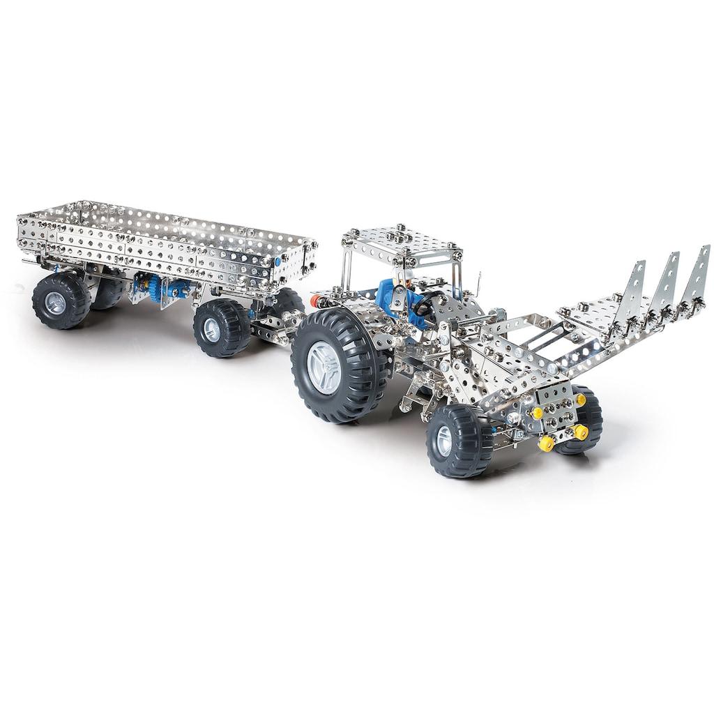 Eitech Metallbaukasten »Mähdrescher/ Traktor mit Anhänger«, (1000 St.), Made in Germany