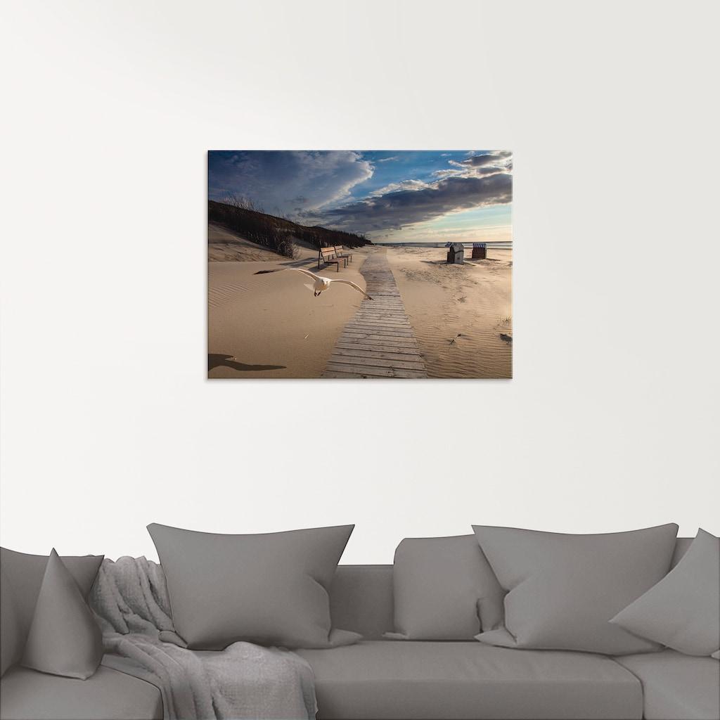 Artland Glasbild »Strandimpressionen«, Strand, (1 St.)