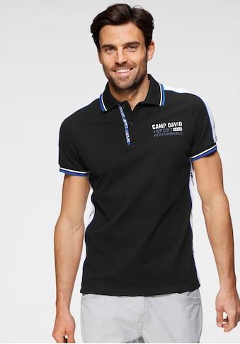 CAMP DAVID Poloshirt, mit Logobrustprint kaufen