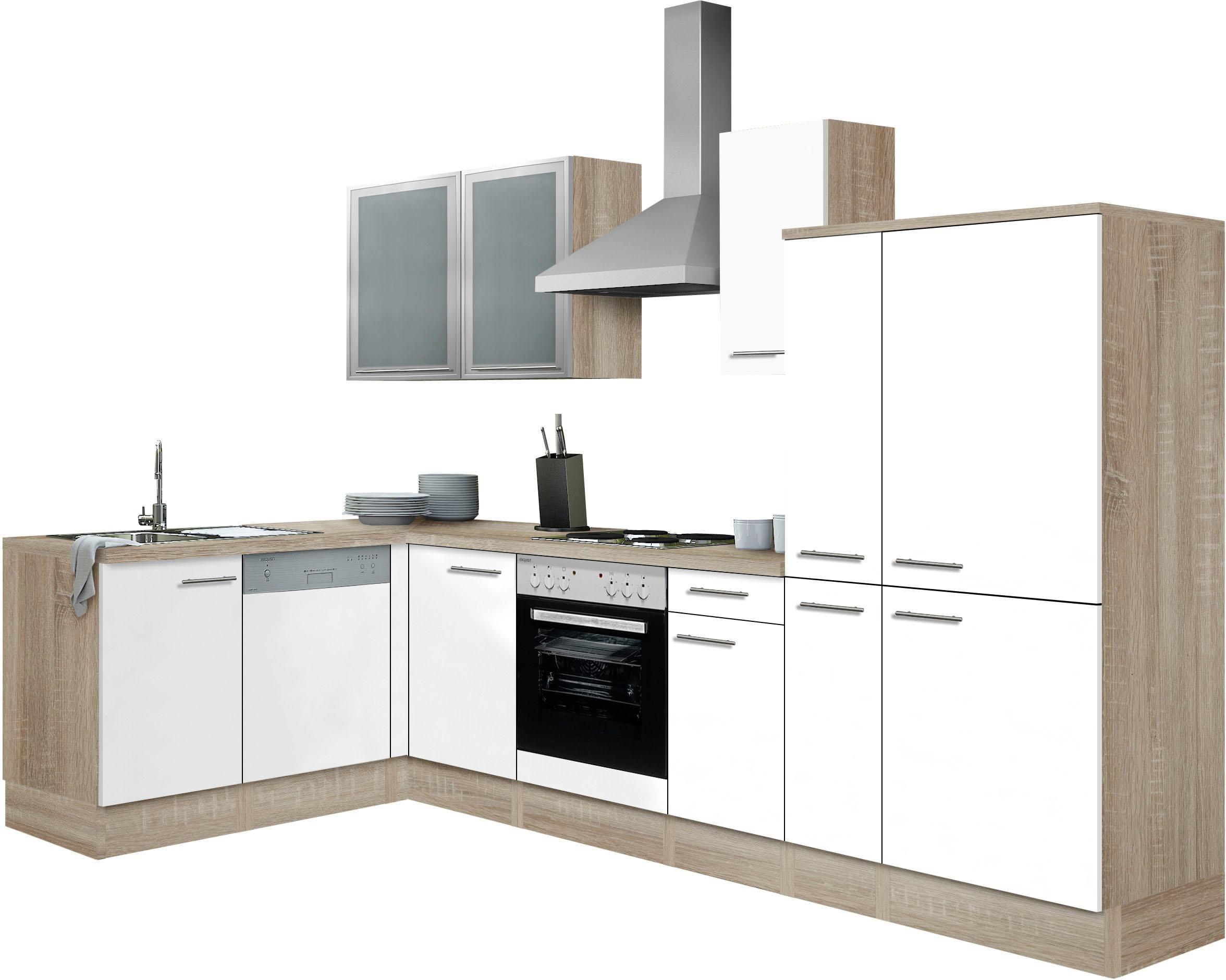 OPTIFIT Winkelküche Kalmar | Küche und Esszimmer > Küchen > Winkelküchen | Weiß | Optifit