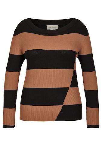 VIA APPIA Trendiger Pullover mit Streifen Plus Size kaufen