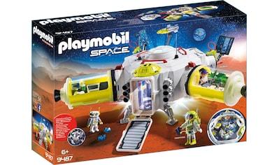 Playmobil® Konstruktions-Spielset »Mars-Station (9487), Space«, mit vielfältigen Licht- und Soundeffekten, Made in Germany kaufen