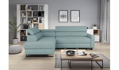 my home Ecksofa »Livio«, inklusive Bettfunktion und Bettkasten kaufen