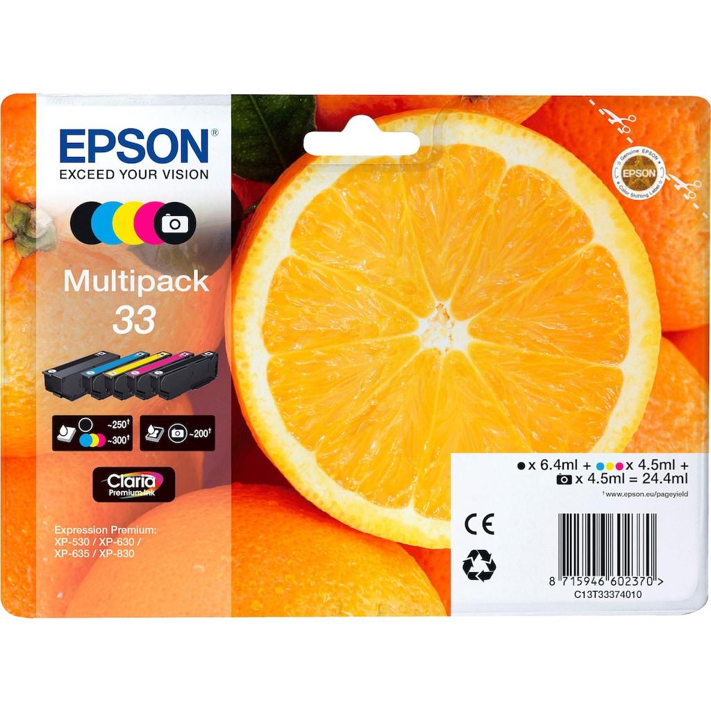 Epson Tintenpatrone »Origal Multipack 5-colours 33 Claria Premium Ink  : C13T33374021«